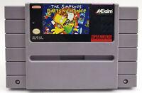 Simpsons Bart's Nightmare The SNES Genuine *RG Gallery* Super Nintendo