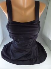 Esther Williams 1pcs Black Tank Swimsuit w/ attached skirt Sz 10. Sexy  Must See