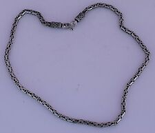 Vintage sterling silver unique unusual link ornate heavy necklace, chocker chain