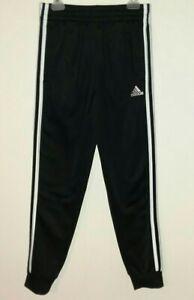 Boys Sz M Adidas Jogger Pants Joggers Black 10 - 12 10/12 Athletic Track Medium
