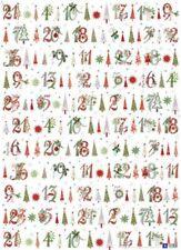 *ACUFACTUM*Geschenkpapier*Weihnachten*50 x 70cm*KERSTIN HESS*Adventszahlen*