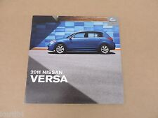 2011 Nissan Versa Sedan Hatchback 1.6 1.8 S SL sales brochure dealer catalog