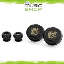 New Set of 2x Ernie Ball Super Locks - Black Guitar Straplocks - 4601