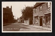 Moulton - West Street - real photographic postcard