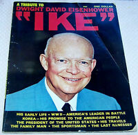 """RARE 1969 A TRIBUTE TO DWIGHT DAVID EISENHOWER """"IKE"""" MAGAZINE. 66 PAGES."""