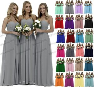 New Chiffon Formal Evening Bridesmaid Dresses Party Ball Prom Gown Dress 6-26+