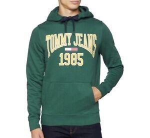 Tommy Hilfiger Jeans 1985 Logo Hoodie Jumper in Green For Men