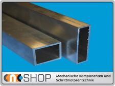Aluminium Formrohr   80 x 40 x 4,0 mm je 100 mm Alu Rohr rechteckig Rechteckrohr
