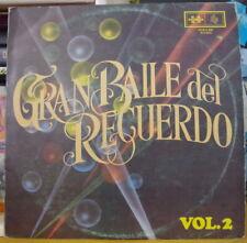 """""""GRAN BAILE DE RECUERDO"""" VOL.2 VARIOUS ARTISTS  COLOMBIA PRESS LP DISCOMODA 1980"""