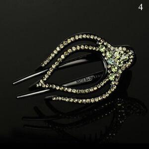 Fashion Alligator Clip Crystal Rhinestone Flower Hair Claw Clamp Hairpin Women