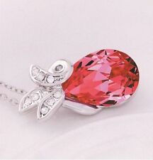 Beautiful 9K Gold Filled Red Crystal Pendant Necklace