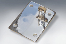 LAMBRETTA SEAT LOCKING PLATE CATCH - STANDARD IN POLISHED STAINLESS STEEL
