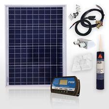 100 Watt 12V Solaranlage PV Solarset Modul 100W Montage Wohnmobil Caravan Boot