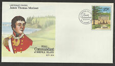 NORFOLK ISLAND 1987 PENAL COMMANDANT MORISSET PSE First Day Postmark