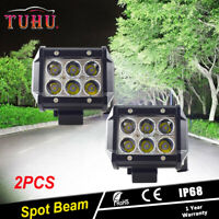 2xAdjustable 18W CREE LED Driving Fog Spot Spotlight Lamp Light For Moto ATV BMW