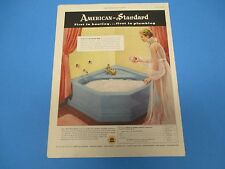 1952 American-Standard Products, First in heating and plumbing, Print Ad PA011