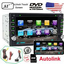 New listing Gps Navigation Double 2Din Car Stereo Dvd Cd Player Bluetooth Auto Radio +Camera