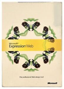 Microsoft Expression Web Pc CIB 2 Cd Roms Have NO Scratches Manuals Nice XP