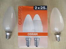 rarité 2 x Osram Ampoule bougie mat 25W E14 Ampoule bougie Qualité Premium mat