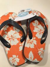 fc2d8784d0c9 NWT The childrens place Toddlers size 10 11 orange black thong flip flops