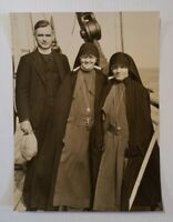 Maryknoll Order Father & 2 Sisters on Dollar Liner Pres Lincoln 1933 Press Photo