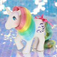 Vintage My Little Pony WINDY Rainbow Hair Purple Unicorn Glitter G1 MLP BO323