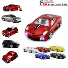 Gift Portable Cordless 2.4Ghz Wireless Optical Car Mouse PC MAC Mice +USB Dongle