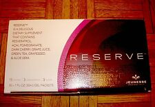 Box with 30 packets of Jeunesse Reserve antioxidant fruit blend w/ Resveratrol