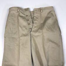 USMC Korean War Post WWII Chino Khaki Cotton Pants Trousers M-1951 Marine Corps