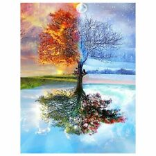 5D Part Drill Diamond Painting Embroidery Cross Stitch Kits Art Four Season Tree