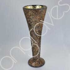 40cm Copper Sparkle Mosaic Trumpet Vase Home Table Decoration Glass Tall