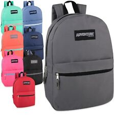 "Lot of 24 Wholesale Bulk 17"" School Backpacks Backpack Bag New - 8 Colors"