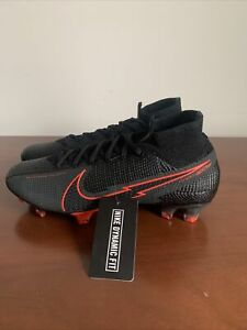 Nike Mercurial Superfly 7 Elite FG Soccer Cleats Black AQ4174-060 Men's Size 7
