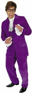 Austin Powers MoJo Groovy Man Mens 60s 70s Stag Fancy Dress Costume Suit