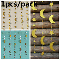 Hanging Flag Bunting Banner Stars Moon Photo Booth Props Muslim Festival Decor