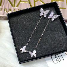 Butterfly Earrings Stud Threader Long Drop Dangle Tassel Crystal Women Wholesale