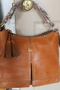 DOONEY & and BOURKE Natural Tan KINGSTON HOBO Leather HANDBAG Shoulder BAG