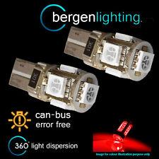 2x W5W T10 501 Errore Canbus libero Hi-Level ROSSO FRENO LUCE 5 LAMPADINE A LED hbl101301