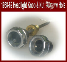 Corvette 1958 1959 1960 Headlight switch knob & nut Dash knob w Extra Hole