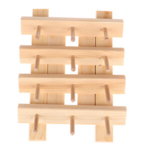 Wood Sewing Thread Organizer Wall Mount Embroidery Sewing Storage Rack Holder^