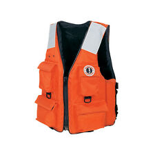 Mustang 4 (Four) Pocket Type III Flotation Vest with Solas Tape Size: XL Orange