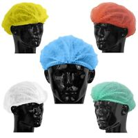 Disposable MOB CAPS Hair net - Medical Hygiene Food Catering |Red Blue White Yel