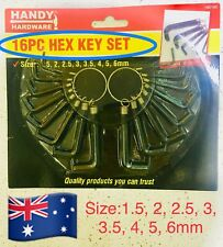 16pc Hex Metric Imperial Hexagon Allen Alan Key Wrench Set Bicycle Tool.