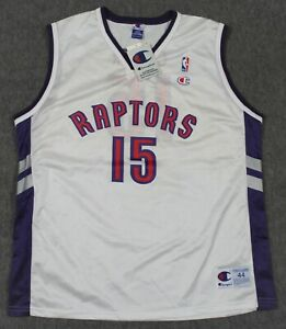 Deadstock Vince Carter Toronto Raptors Vintage 90's NBA Champion Jersey 44