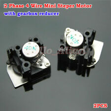 2PCS 2-phase 4-wire Micro Mini Stepper Motor Con / Caja Reductor Para Cámara DIY