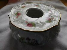 "Royal Porzellan KPM Bavaria Germany 2 pc Roses Tea Light Coffee Pot Warmer 6.5"""