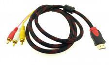 1.5m HDMI auf 3 RCA Cinch RGB YUV Kabel Adapter für HDTV HD