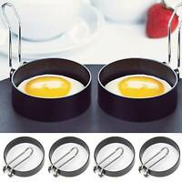 2x Kitchen Cooking Tool Stainless Steel Fried Egg Shaper Ring Pancake Mould Mold