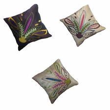 Faux Silk Floral Contemporary Decorative Cushions