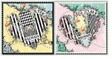 france 2017 stamps fashion MODE BALMAIN art heart love HERZ CORAZÓN 2vmnh **